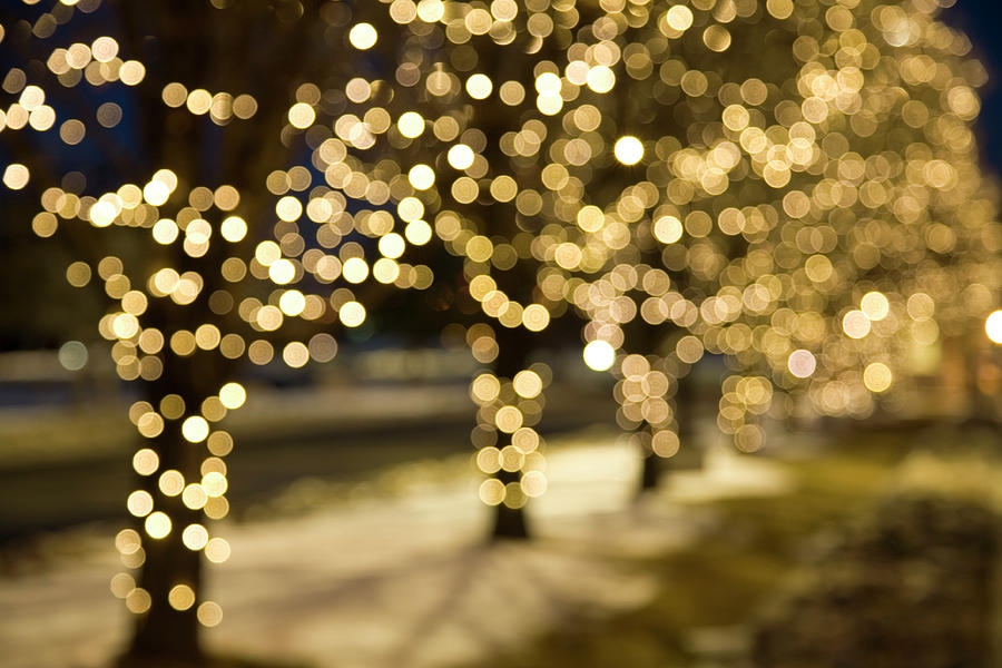 Extreme Blur Christmas Lights Photograph by Njgphoto