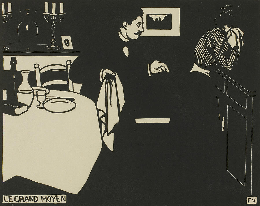 Extreme Measure, plate six from Intimacies by Felix Edouard Vallotton