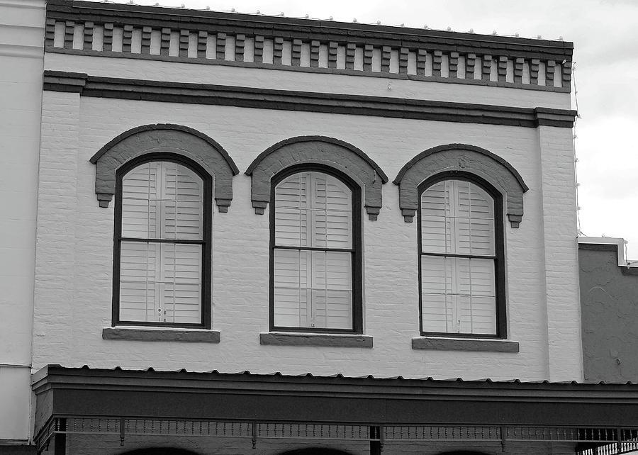 Eyebrow Windows in Bellville Texas B W  by Connie Fox