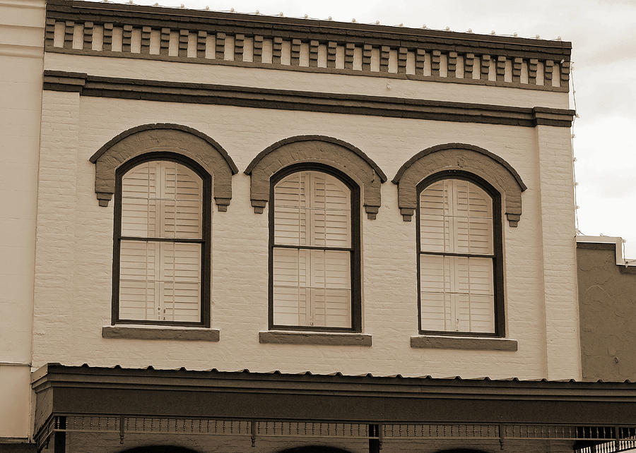 Eyebrow Windows in Bellville Texas Sepia  by Connie Fox