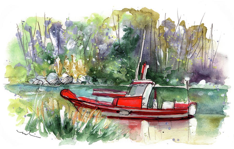 Boats In Ezaro In Galicia 01 by Miki De Goodaboom