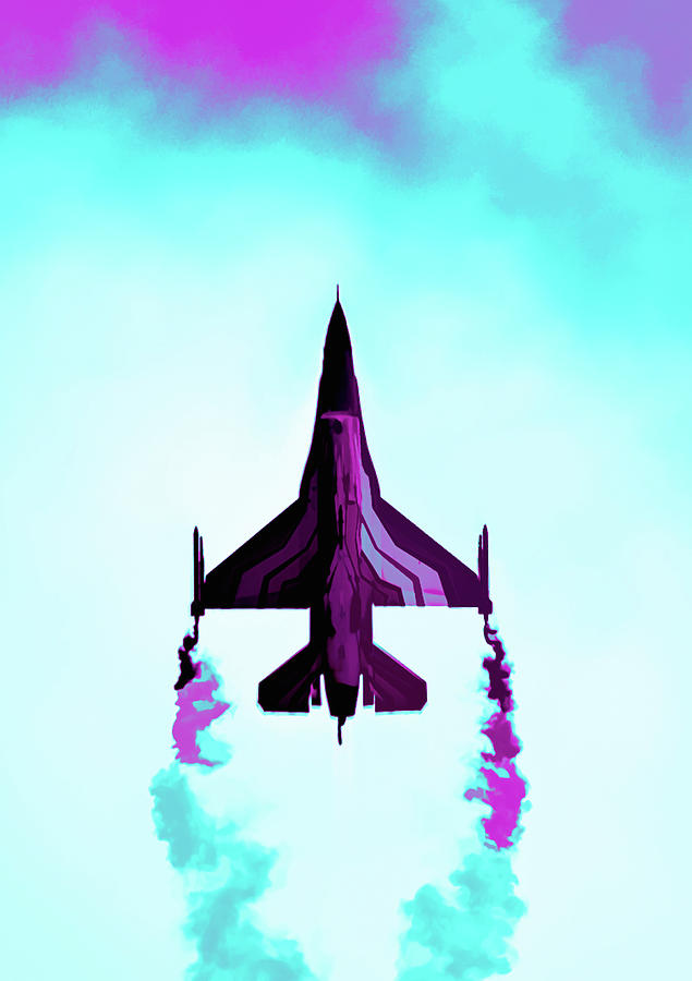 F-16 Fighting Falcon Abstract by Scott Lyons