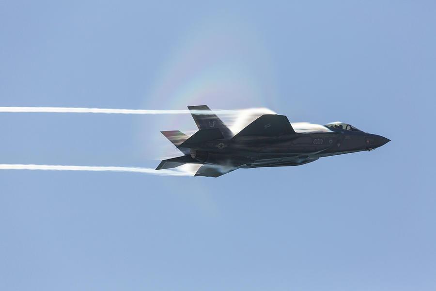 F-35 With Vapor Photograph
