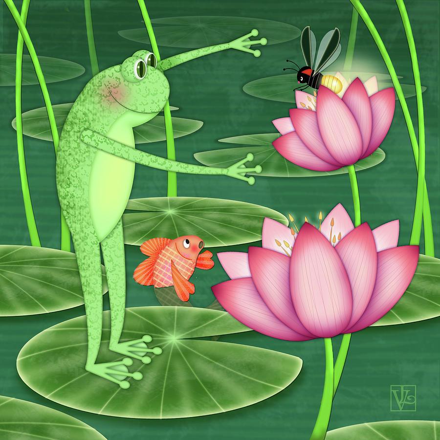F is for Frog by Valerie Drake Lesiak