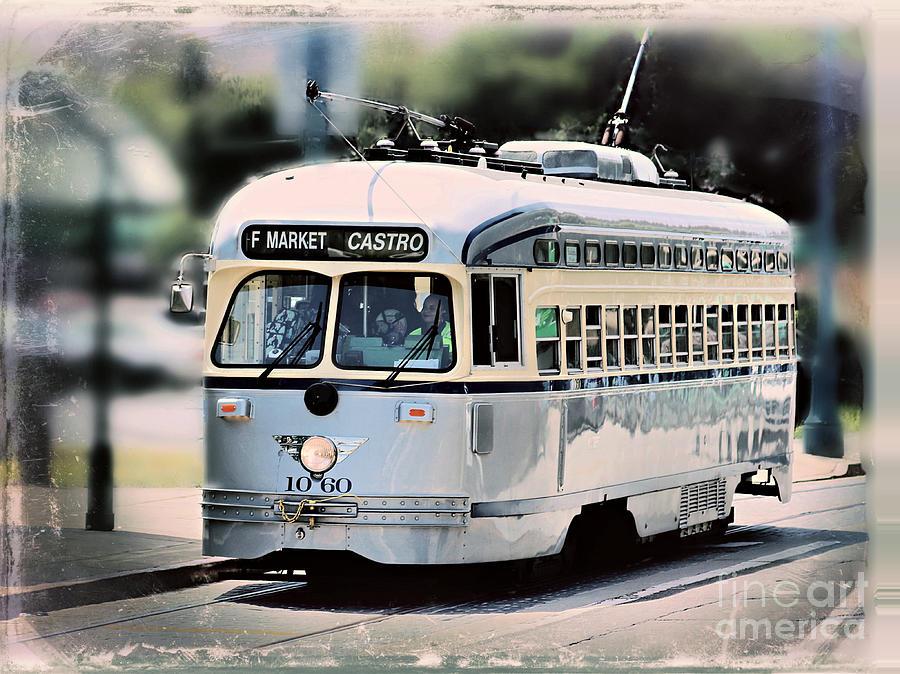 F MARKET CASTRO Vintage Streetcar by Diann Fisher