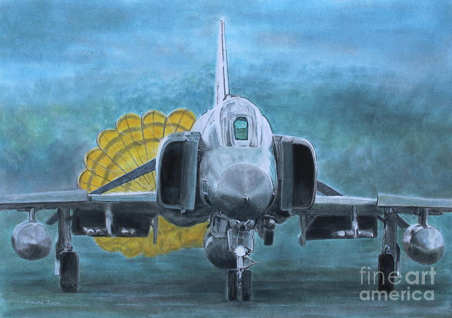 F4 Phantom Landing by Elaine Jones