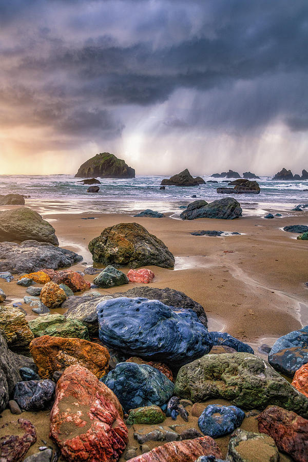 Face Rock Storm by Darren White