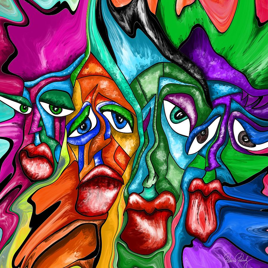 Modern Abstract Art Faces