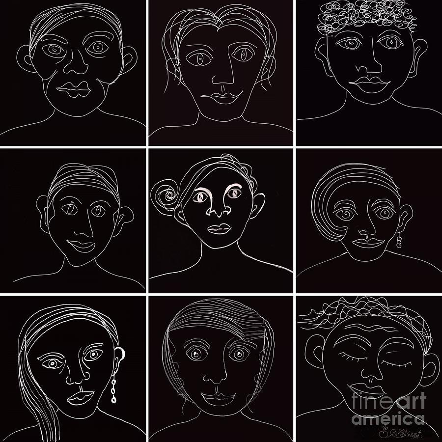 Faces in Line by Caroline Street