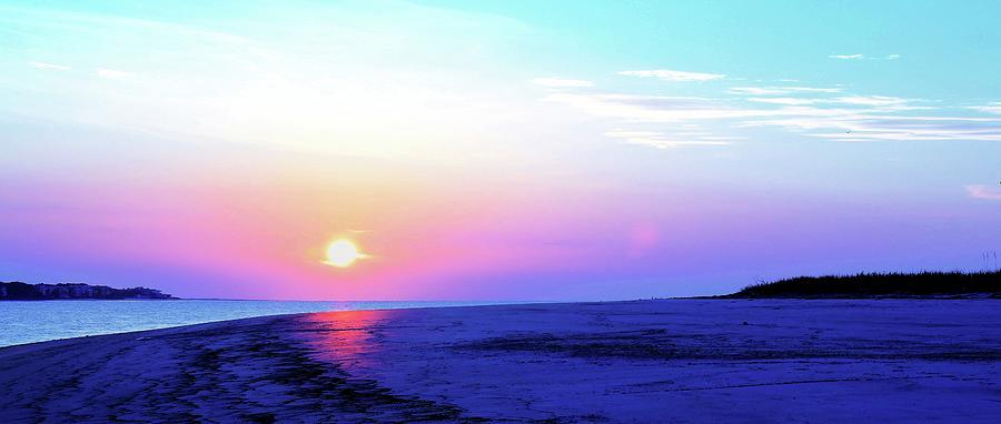 Facing the Sunrise Along Georgia's Beach  by Carol Montoya