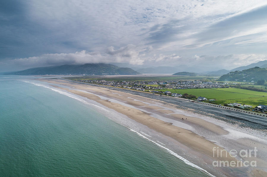 Fairbourne, Snowdonia, Wales - from the air #1 by Keith Morris