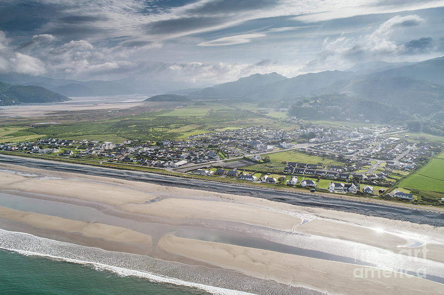 Europe Photograph - Fairbourne, Snowdonia, Wales - From The Air #2 by Keith Morris