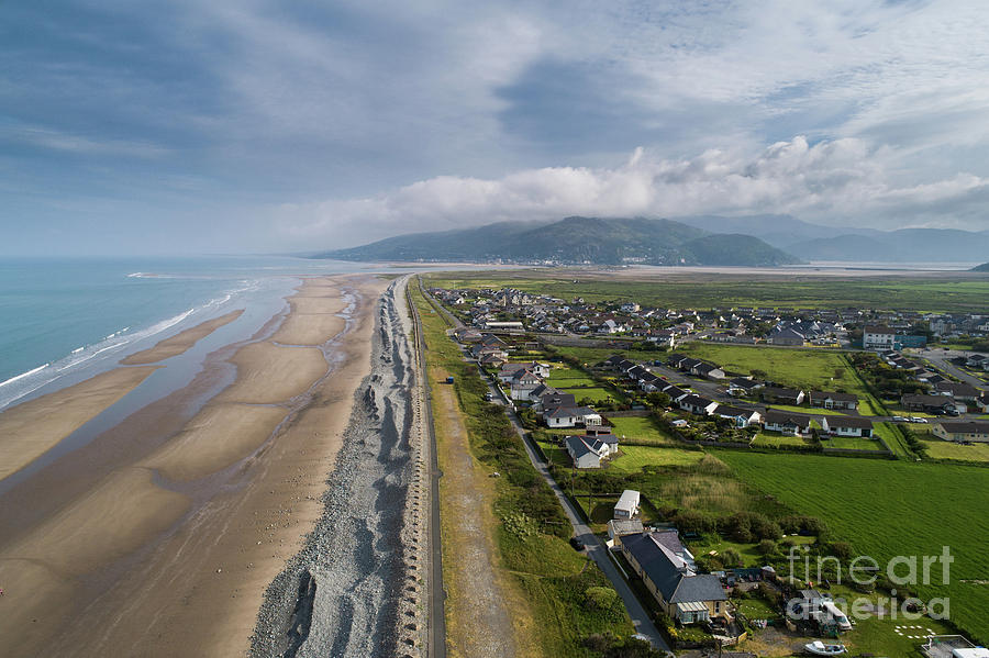 Fairbourne, Snowdonia, Wales - from the air #4 by Keith Morris