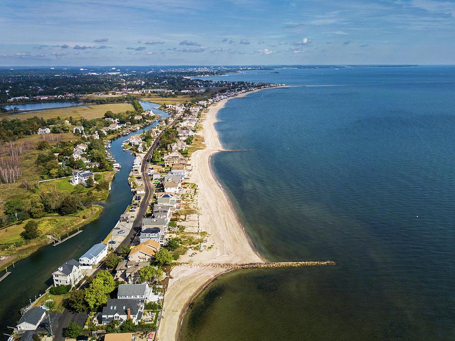 Fairfield Photograph - Fairfield Beach Connecticut Aerial by Stephanie McDowell
