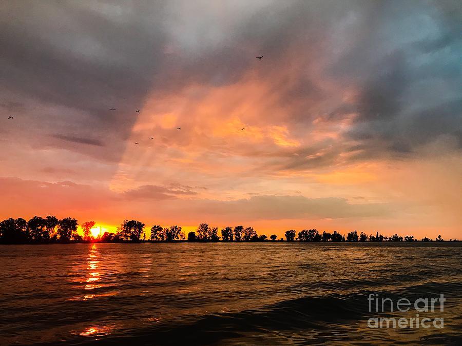 Fairport Sunset Photograph