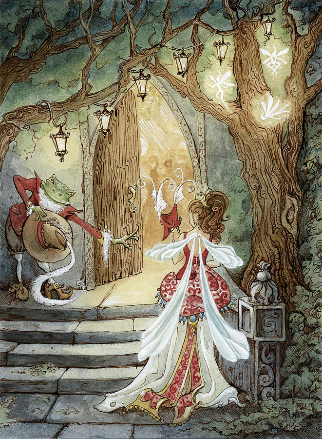 Fairy Going To Masquerade Ball With Digital Art by Tina Druce-hoffman