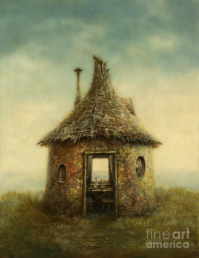 Small Digital Art - Fairy Tale House, Painted With Acrylic by Slava Gerj