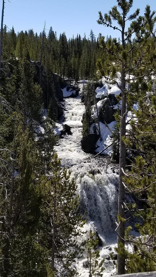 Fairy Waterfall Ynp Mixed Media