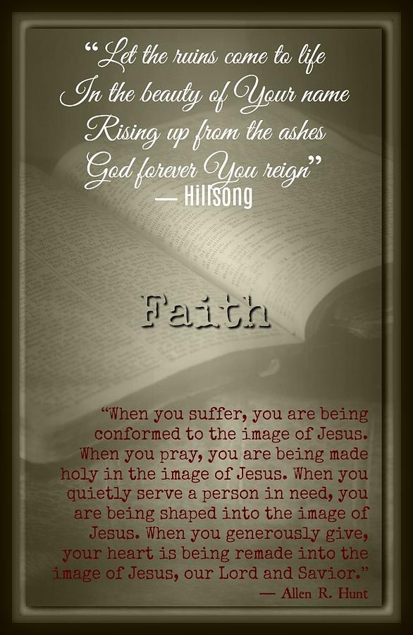 Jesus Photograph - Faith 6122 by David Norman