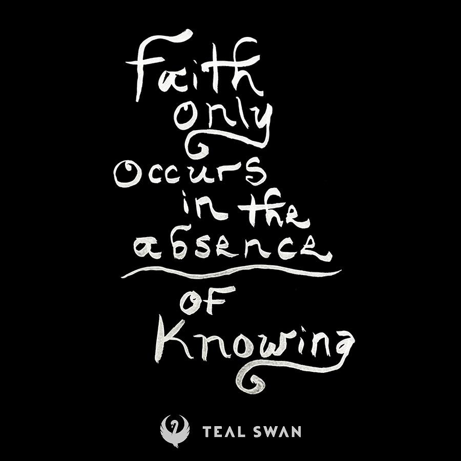Faith Quote by Teal Eye Print Store