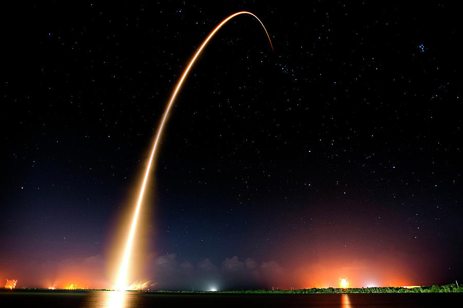 Falcon 9 Photograph - Falcon 9 Rocket Launch Outer Space Image by Bill Swartwout Photography