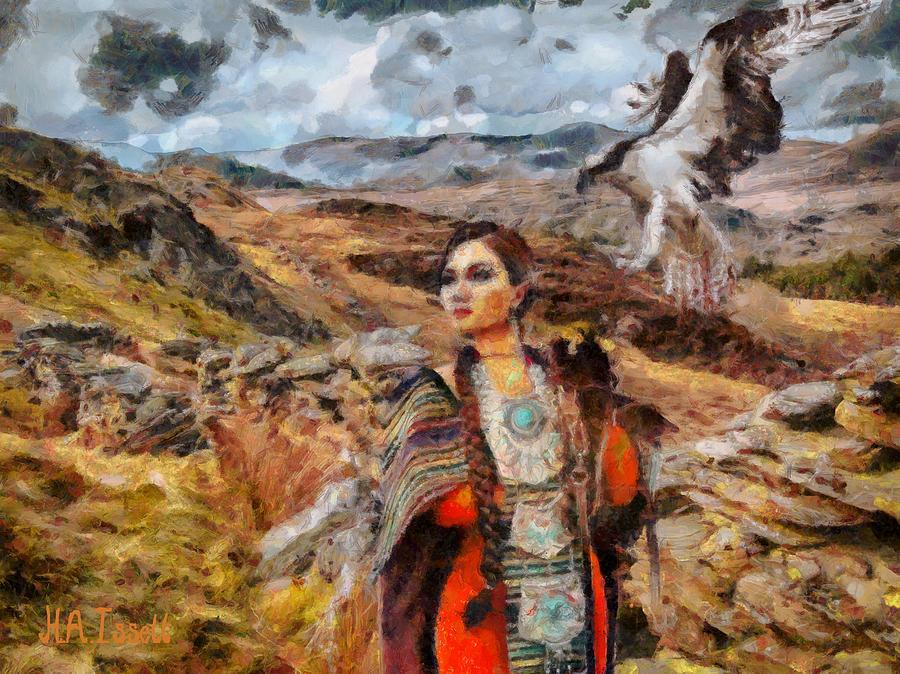 Falcon Huntress by Humphrey Isselt