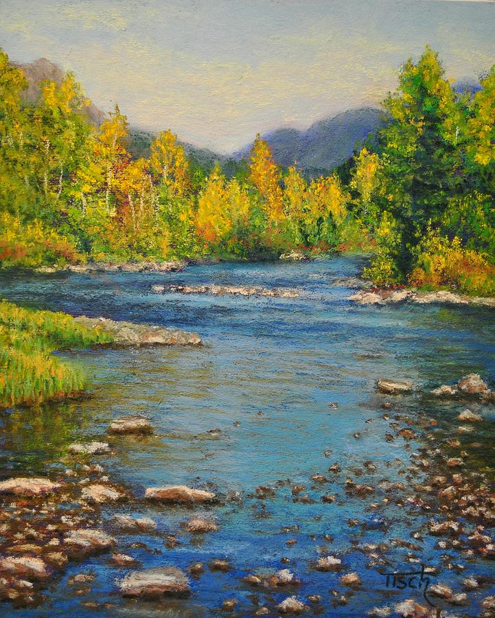 Fall Amongst the Two Medicine River by Lee Tisch Bialczak