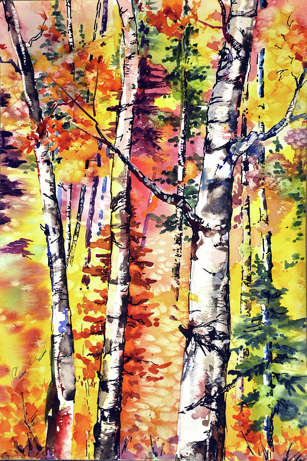 Fall Aspen Colors by Connie Williams