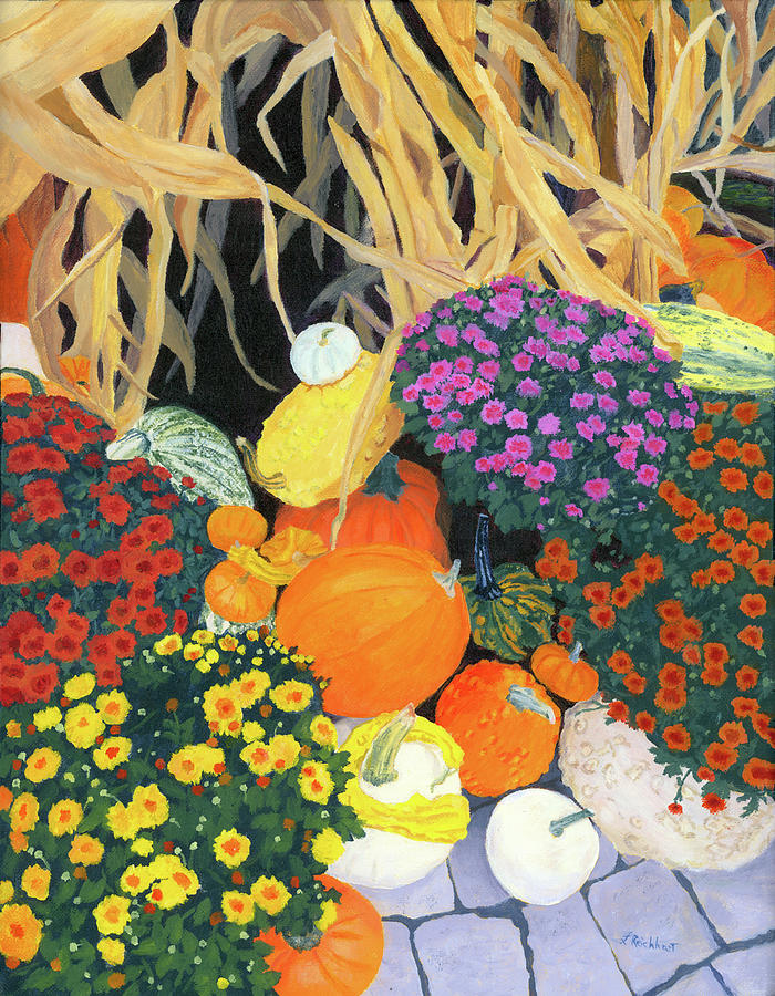 Fall Painting - Fall Bounty by Lynne Reichhart