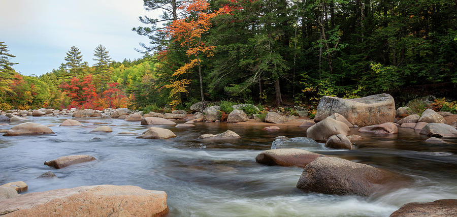 Fall colors along the Swift River by Cliff Wassmann