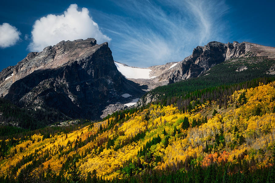 Fall Colors below Hallet Peak, RMNP by Flying Z Photography by Zayne Diamond