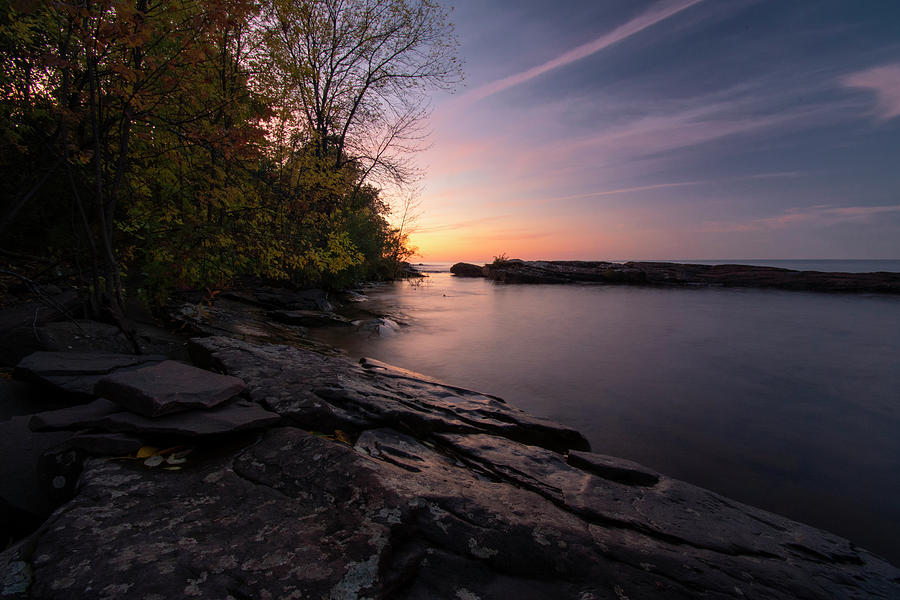 Fall Colors Lake Superior Shoreline 10071901 by Rick Veldman