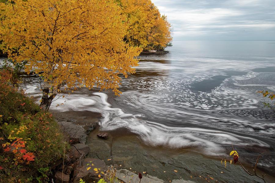 Fall Colors Lake Superior Shoreline 10071902 by Rick Veldman