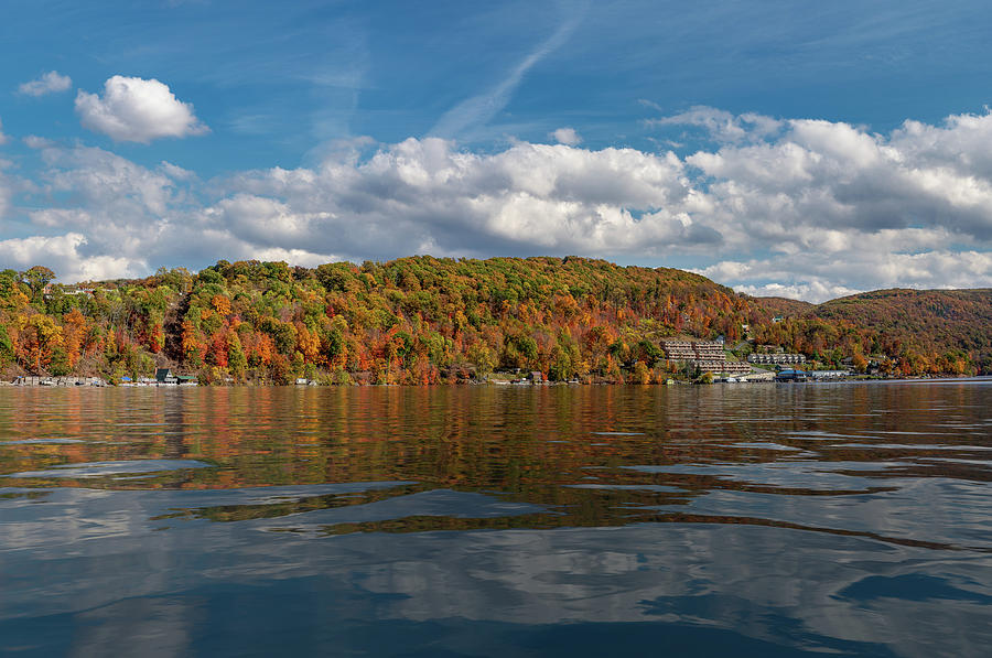 Fall colors on Cheat Lake in Morgantown West Virginia by Steven Heap