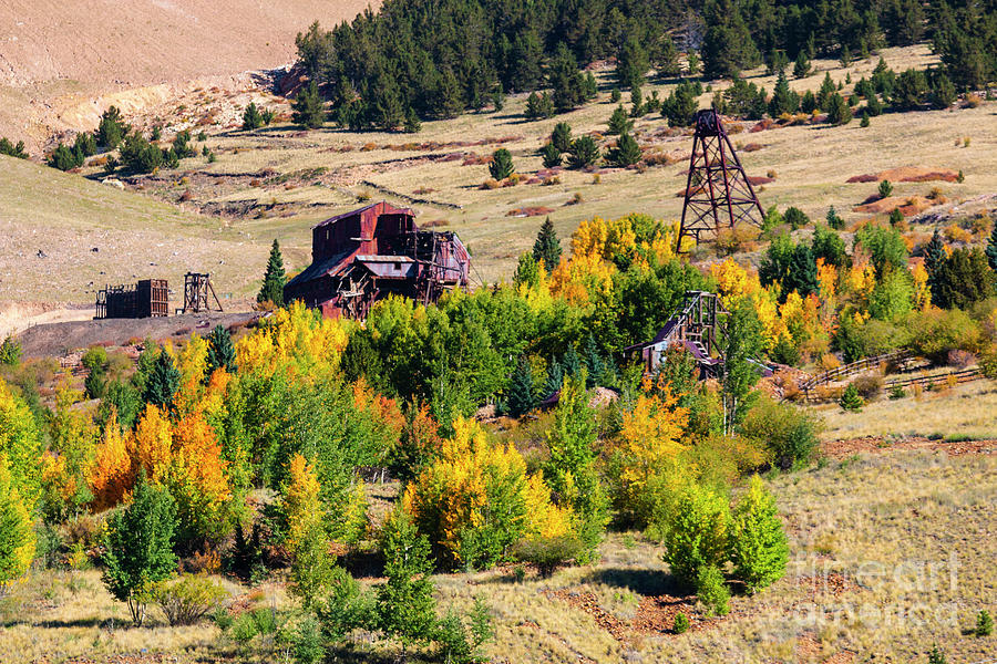 Fall Colors On Historic Gold Mines Photograph