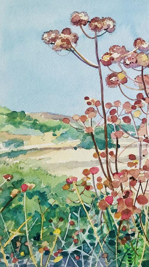 Calabasas Seedheads Painting