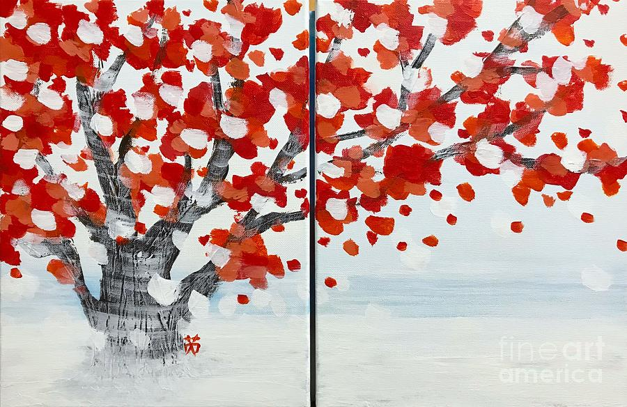 Fall Painting - Fall Fall Fall by Wonju Hulse