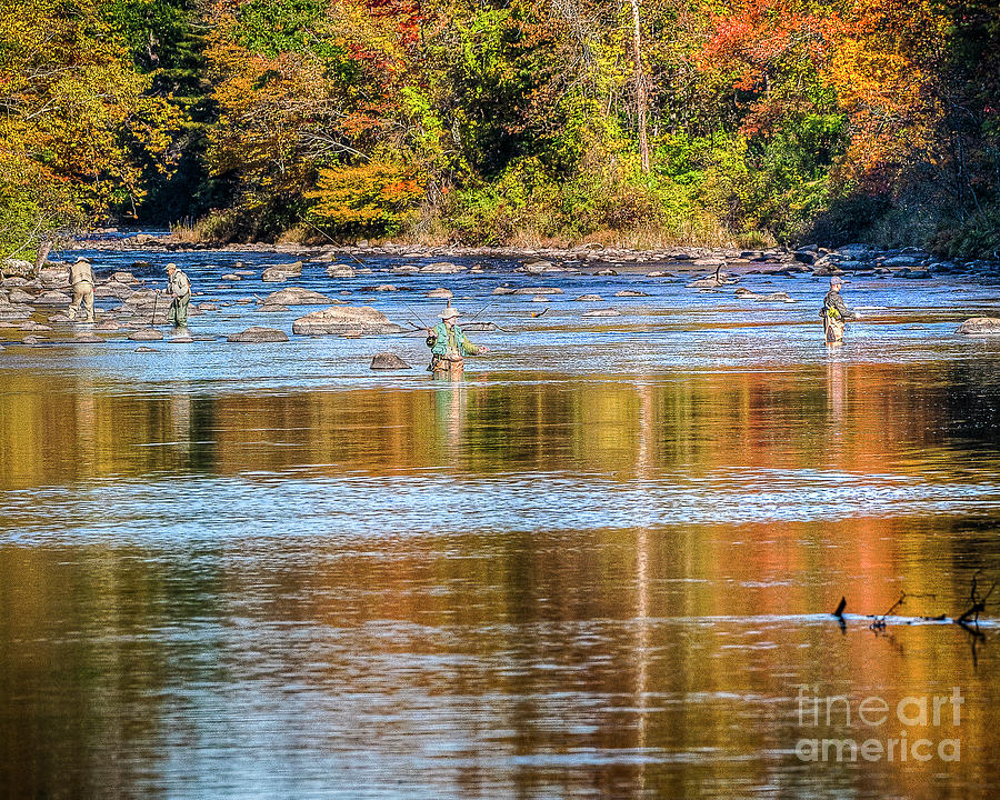 Fall Fishing Reflections by Tom Cameron