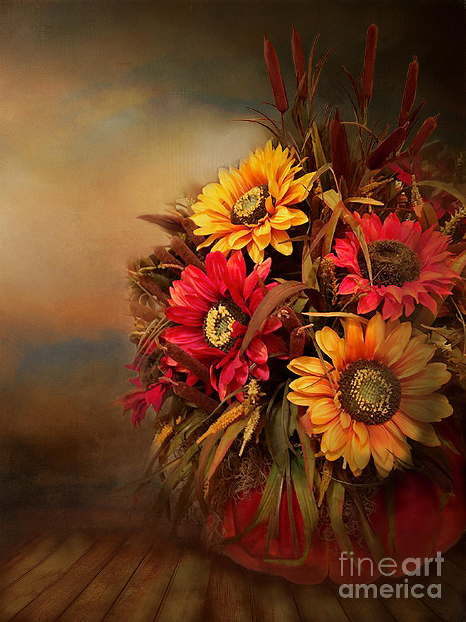 Fall Floral Decoration by Kathy Kelly