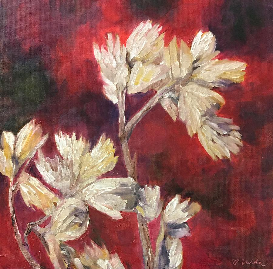 Fall Flowers Painting - Fall Flowers by Vonda Drees