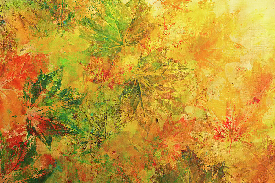Fall Foliage Abstract Acrylic Painting