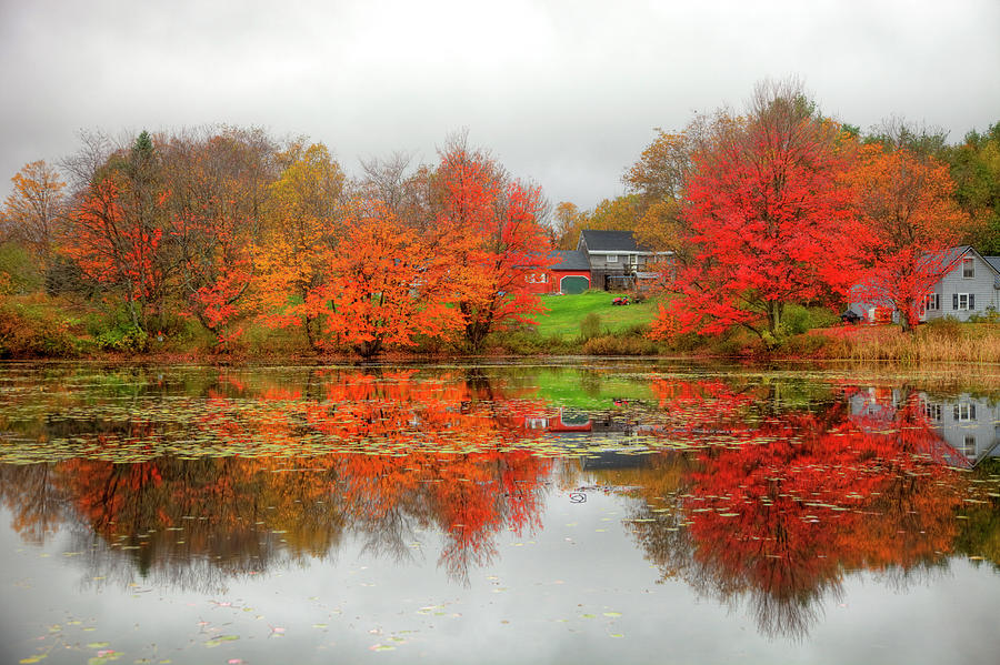 Fall Foliage In Rural New Hampshire Photograph by Denistangneyjr