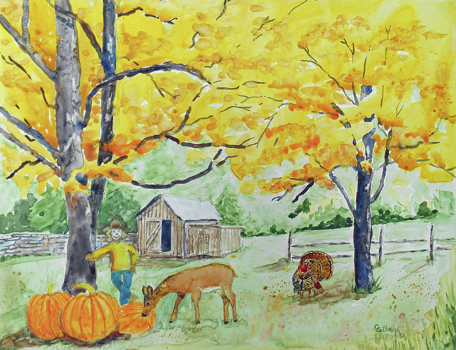 Fall Painting - Fall Fun by Christine Lathrop