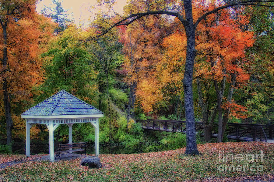 Fall Gazebo by Karen Adams