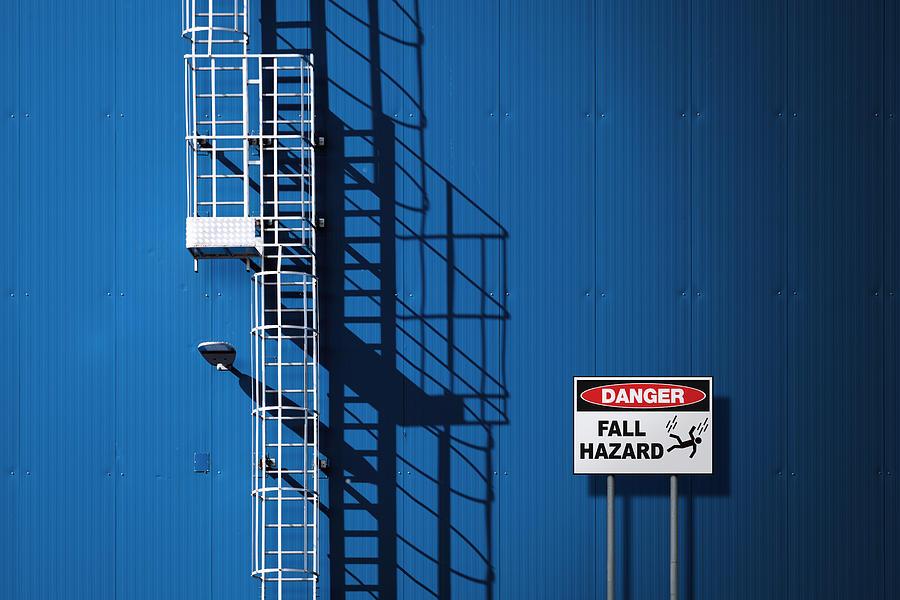 Architecture Photograph - Fall Hazard by Andrea Comari