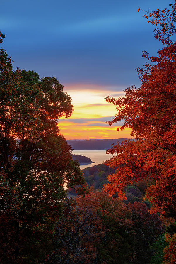 Fall In Love - Beaver Lake Sunrise - Northwest Arkansas Photograph