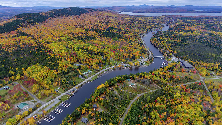 Drone Photograph - Fall In Rockwood by Janice Grabowski