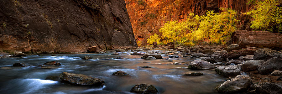 Fall in the Narrows Pano by Ryan Smith