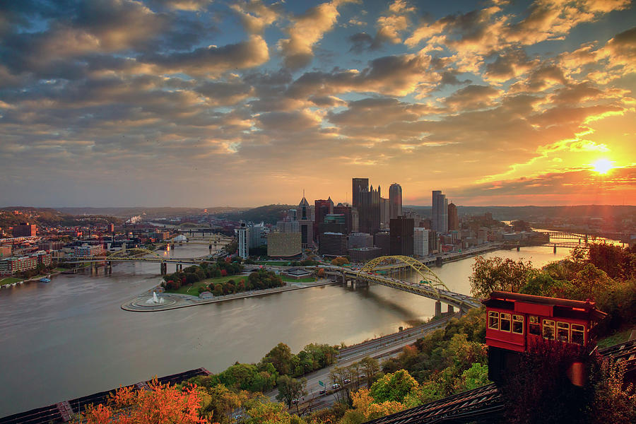 Fall Incline at Sunset  by Emmanuel Panagiotakis