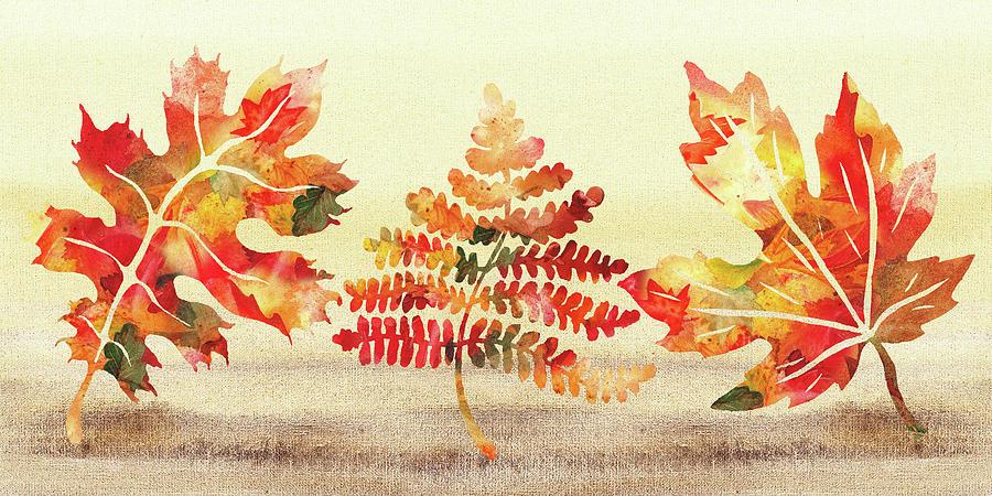 Fall Leaves Autumn Song  by Irina Sztukowski